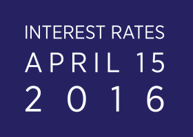 Interest Rates as of April 15, 2016