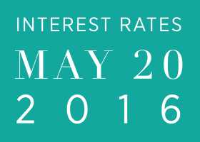 Interest Rates as of May 20, 2016